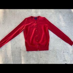 Tommy Hilfiger red small cardigan